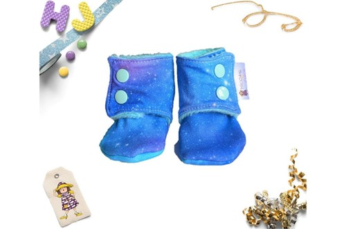 Click to order 0-3m Fleece Stay on Booties Space Time now