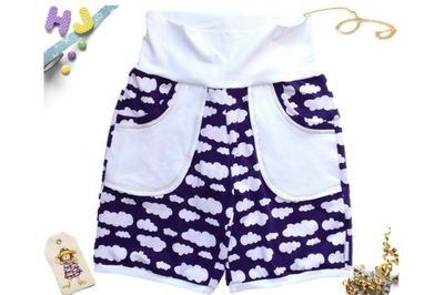 Click to order US 6-8 Juice Joggers Shorts Purple Clouds now