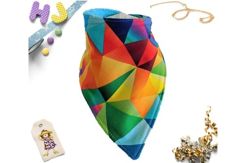 Click to order  Dribble Bib Acute Rainbow now