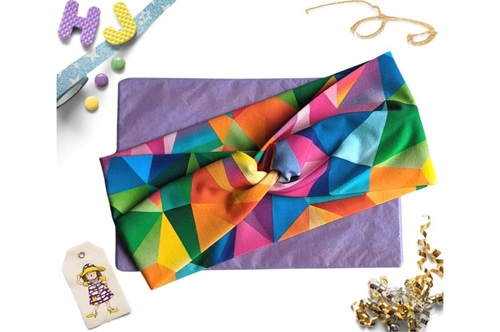 Click to order  Faux Twist Headband Acute Rainbow now