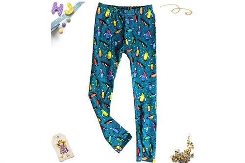 Click to order Age 7 Children's Leggings Watercolour Penguins now