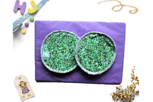 Click to order  Breast Pads Green Glitter now