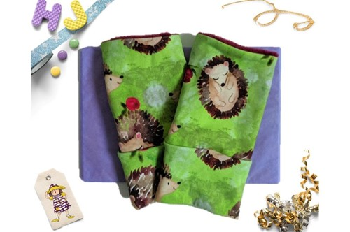 Click to order Medium Adult Wrist Warmers Hedgehogs now