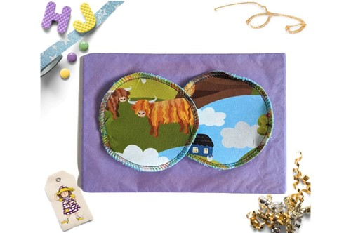 Click to order  Reusable Make Up Wipes Highland Cows now