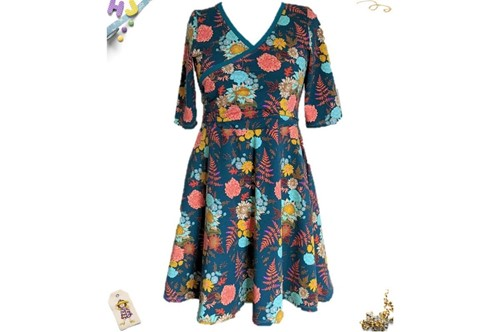Order Juice Ruche Skater Dress to be custom made on this page