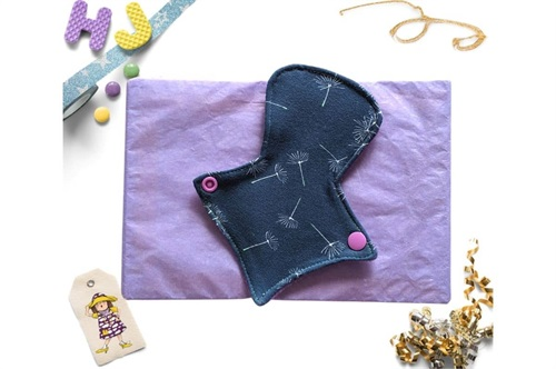 Click to order  7 inch Thong Liner Cloth Pad Midnight Dandelion now