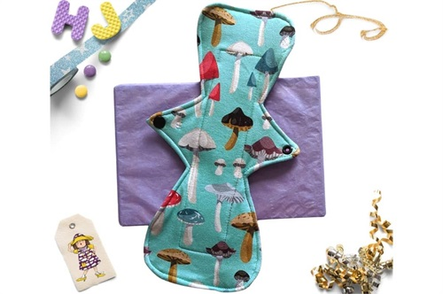 Click to order  9 inch Cloth Pad Mint Funghi now