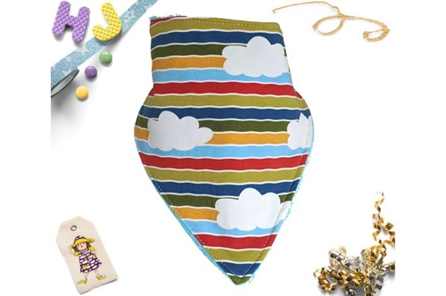 Click to order  Dribble Bib Moo Stripes now