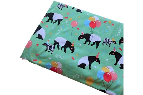 Click to order custom made items in the Mint Tapirs fabric