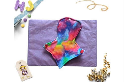 Click to order  7 inch Thong Liner Cloth Pad Pastel Rainbow Galaxy now