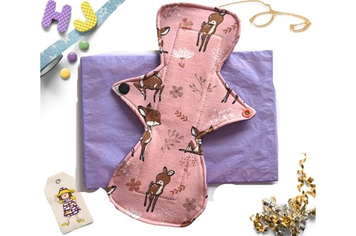Click to order  9 inch Cloth Pad Pink Deer now