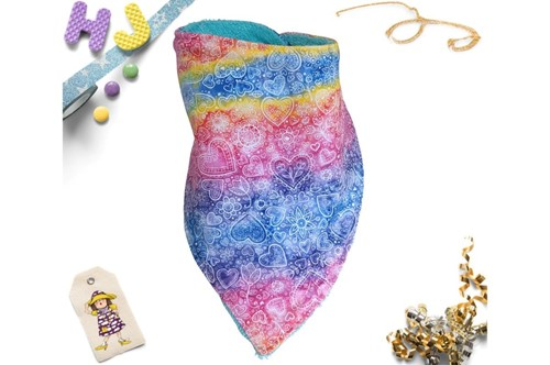 Click to order  Dribble Bib Rainbow Lace now
