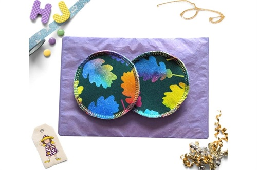 Click to order  Breast Pads Rainbow Leaves now