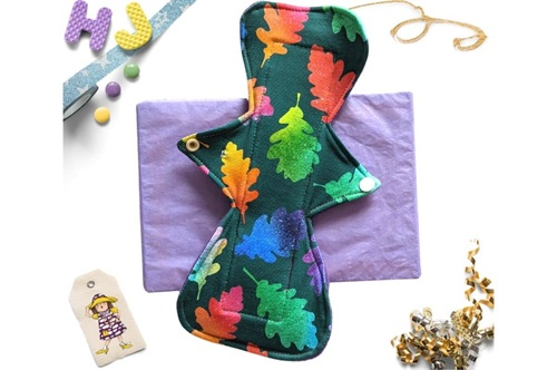 Click to order  11 inch Cloth Pad Rainbow Leaves now