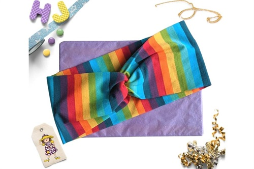 Click to order  Faux Twist Headband Rainbow Stripes now