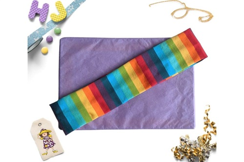 Click to order  Flat Headband Rainbow Stripes now