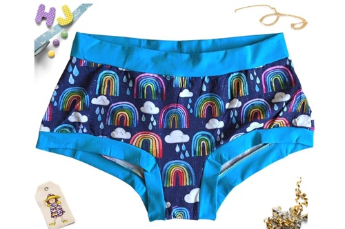 Click to order XXXL Boyshorts Rainbows and Raindrops now