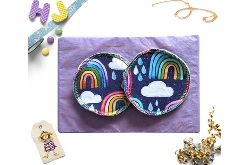 Click to order  Breast Pads Rainbows and Raindrops now
