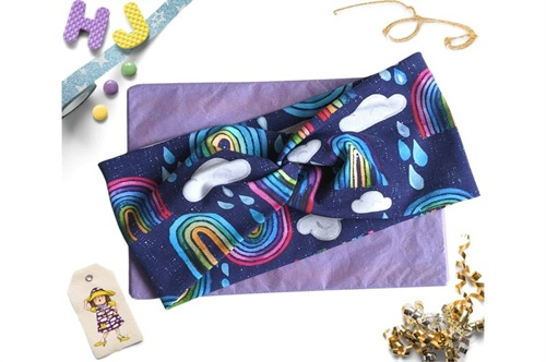 Click to order  Faux Twist Headband Rainbows and Raindrops now