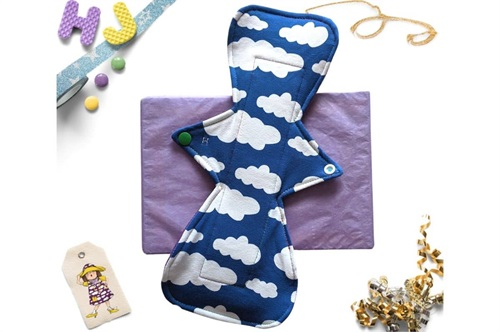 Click to order  12 inch Cloth Pad Royal Blue Clouds now