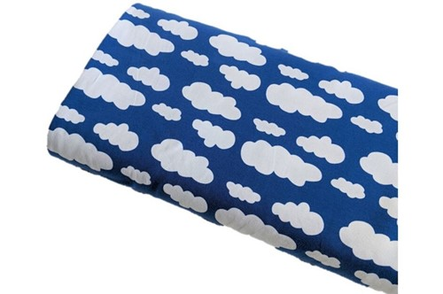 Click to order custom made items in the Royal Blue Clouds fabric