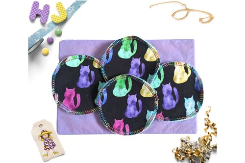 Click to order  Reusable Make Up Wipes Space Cats now