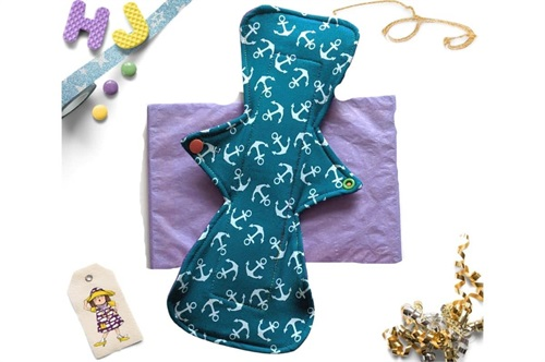 Click to order  12 inch Cloth Pad Teal Anchors now