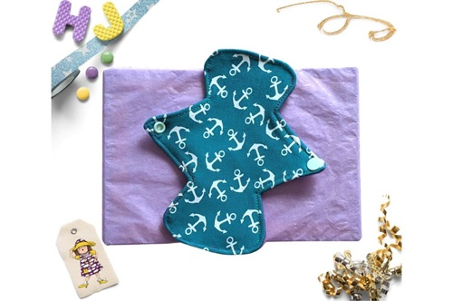 Click to order  7 inch Cloth Pad Teal Anchors now