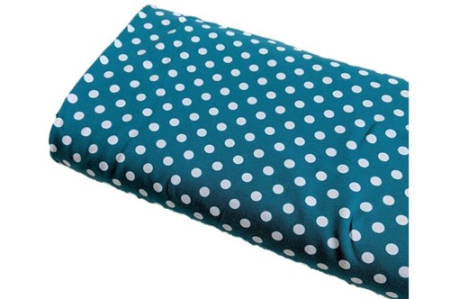 Click to order custom made items in the Teal Dots fabric