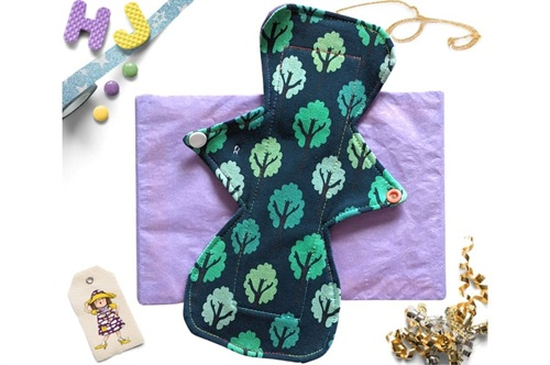 Click to order  10 inch Cloth Pad Teal Forest now