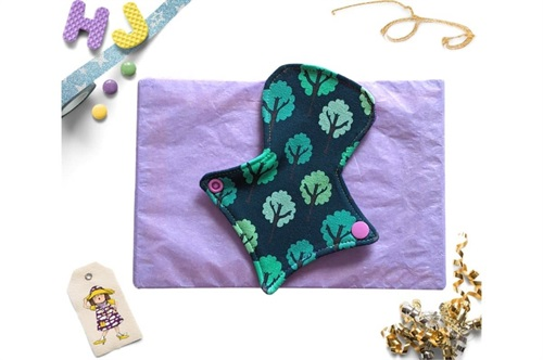Click to order  7 inch Thong Liner Cloth Pad Teal Forest now