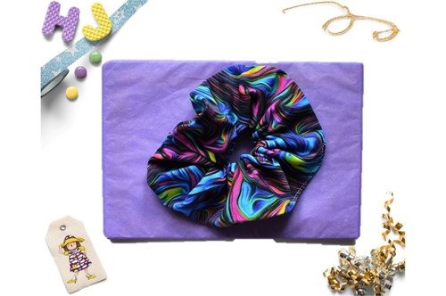 Click to order  Scrunchies Teal and Pink Swirls now