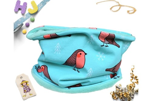 Click to order Age 1-4 Snood Turquoise Robins now