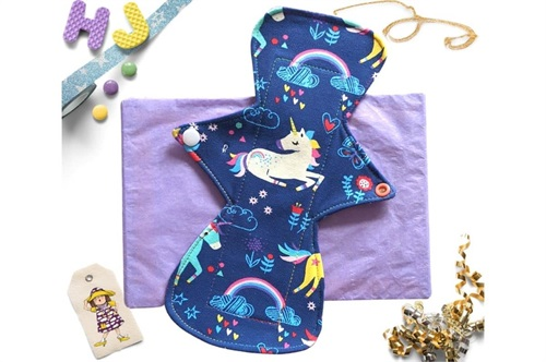 Click to order  9 inch Cloth Pad Unicorns Drawing now