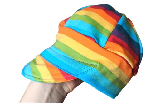 Click to order XS Peaky Beanie Rainbow Stripes now