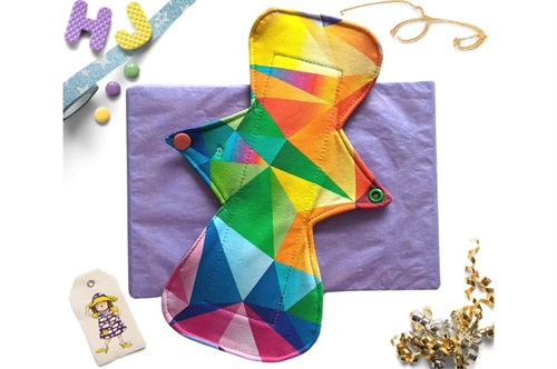 Click to order  10 inch Cloth Pad Acute Rainbow now