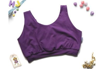 Click to order custom made Solid Colour Scoop Bra