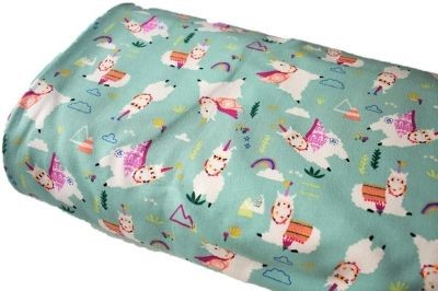 Click to order custom made items in the Caped Llamas (French Terry) fabric