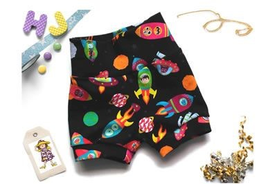 Click to order 0-3m Cuff Pants Galactic Friends now