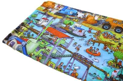 Click to order custom made items in the Construction Scene fabric