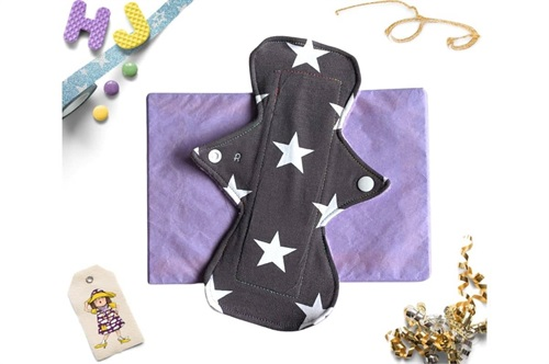 Click to order  9 inch Cloth Pad Grey Stars now