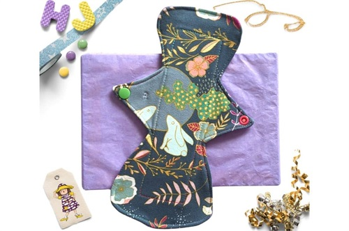 Click to order  10 inch Cloth Pad Moon Gazing Hares now