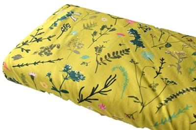 Click to order custom made items in the Ochre Meadow fabric