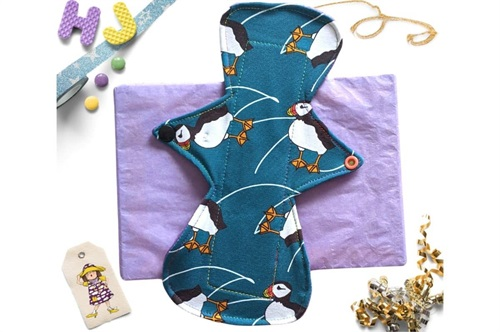 Click to order  10 inch Cloth Pad Puffins now