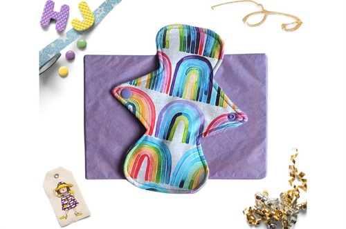 Click to order  8 inch Cloth Pad Rainbow Rows now