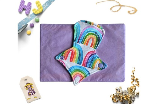 Click to order  7 inch Thong Liner Cloth Pad Rainbow Rows now