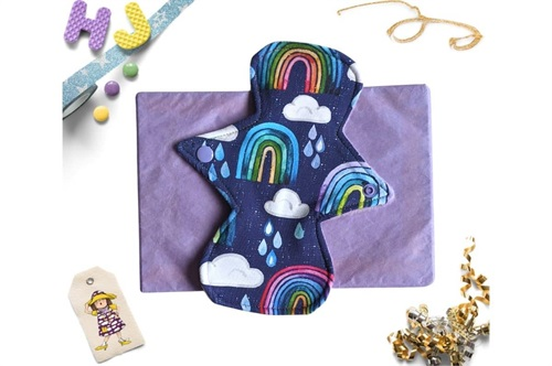 Click to order  8 inch Cloth Pad Rainbows and Raindrops now