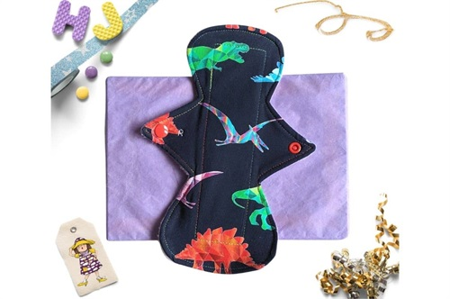 Click to order  9 inch Cloth Pad Rainbowsaurs now