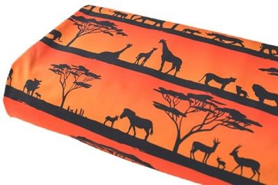 Click to order custom made items in the Serengeti Sunset fabric