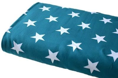 Click to order custom made items in the Teal Stars fabric